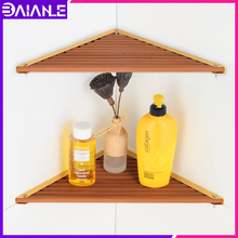 Bathroom shelf Organizer Aluminum Wood Bathroom Shelves Shower Storage Rack Wall Mounted Corner Caddy Shampoo Holder Rack картридж epson c13s015327ba для epson fx 2190 черный