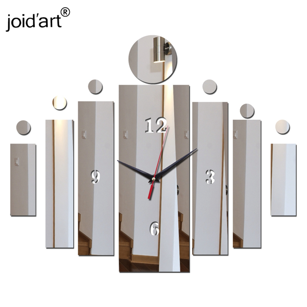New Special Real Offer Acrylic Clocks Wall Clock Mirror Watch Living Room Quartz Modern Home Decoration