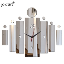 лучшая цена Creative Note clock black wall clock mirror clock wall watch for gift and modern home decoration global free shipping!
