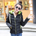 7-14 days To Moscow Winter Jacket Coat Women 2017 New Winter Women Parka Short Slim Thickening Down Cotton-padded Jacket Female