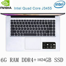 P2-27 6G RAM 1024G SSD Intel Celeron J3455 NvIDIA GeForce 940M Gaming laptop keyboard and OS language available for choose