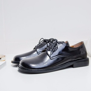 Image 5 - 2021 Fashion Brand Shoes Genuine Leather Thick Heel Spring Strange Style Women Pumps Round Toe Lace Up British School Shoes L73