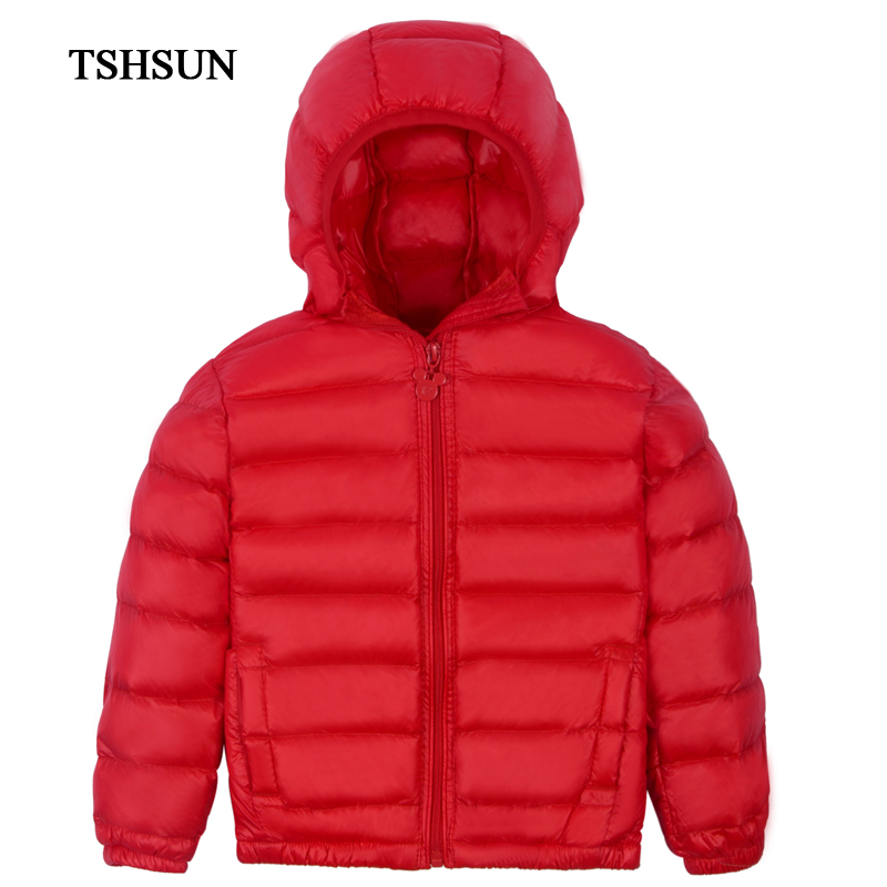 TSHSUN Kids Jackets For Girls and boys  Winter Coat New Fashion Children  Coat Winter  90%white Duck Down Outerwears Jacket winter down jacket for girls boy coat children s down jackets for boys winter jackets kids outerwears