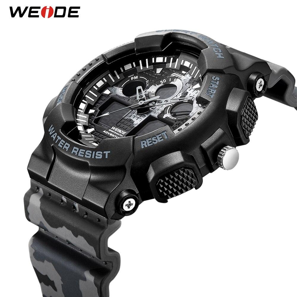 WEIDE Military Mens Watches Sport Digital 50M Waterproof Wristwatch Male Clock Hour Outdoor Relogios Masculino Relojes New 2019