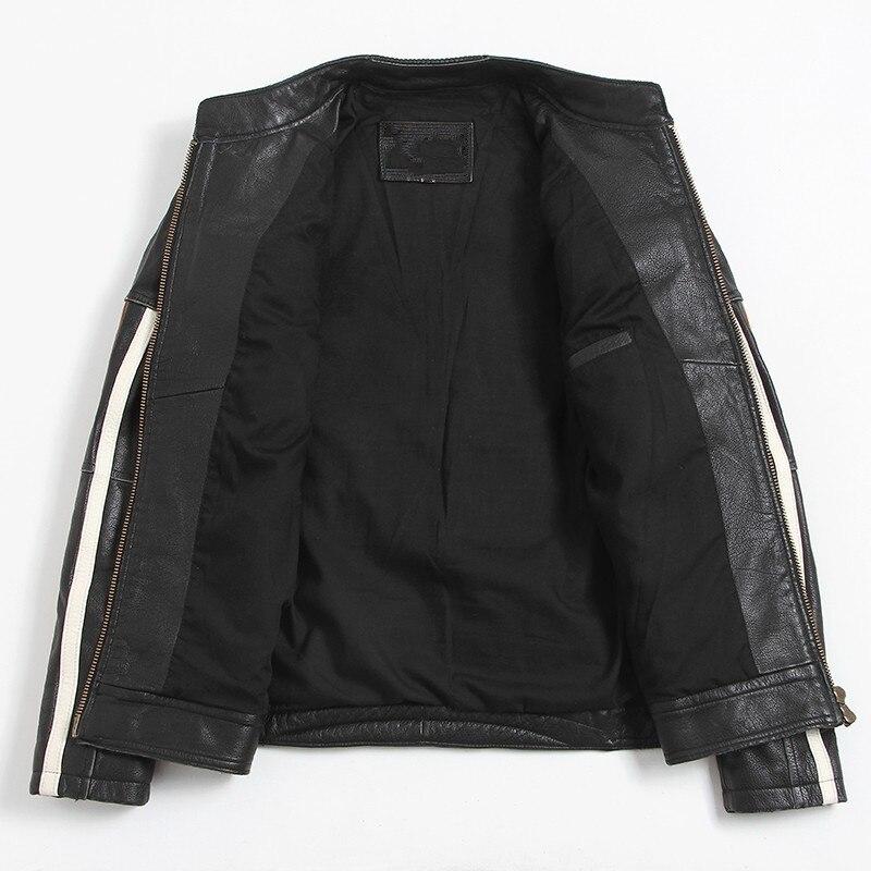 HTB1s27baMnH8KJjSspcq6z3QFXar 2019 Vintage Black Men Leather Motorcyclist Jacket Skull Embroidery Plus Size 3XL Genuine Cowhide Short Biker Coat FREE SHIPPING