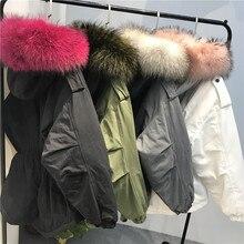 Зимний модный женский пуховик с капюшоном, Женское пальто для беременных, теплый пуховик, верхняя одежда, хорошее качество, натуральный мех енота