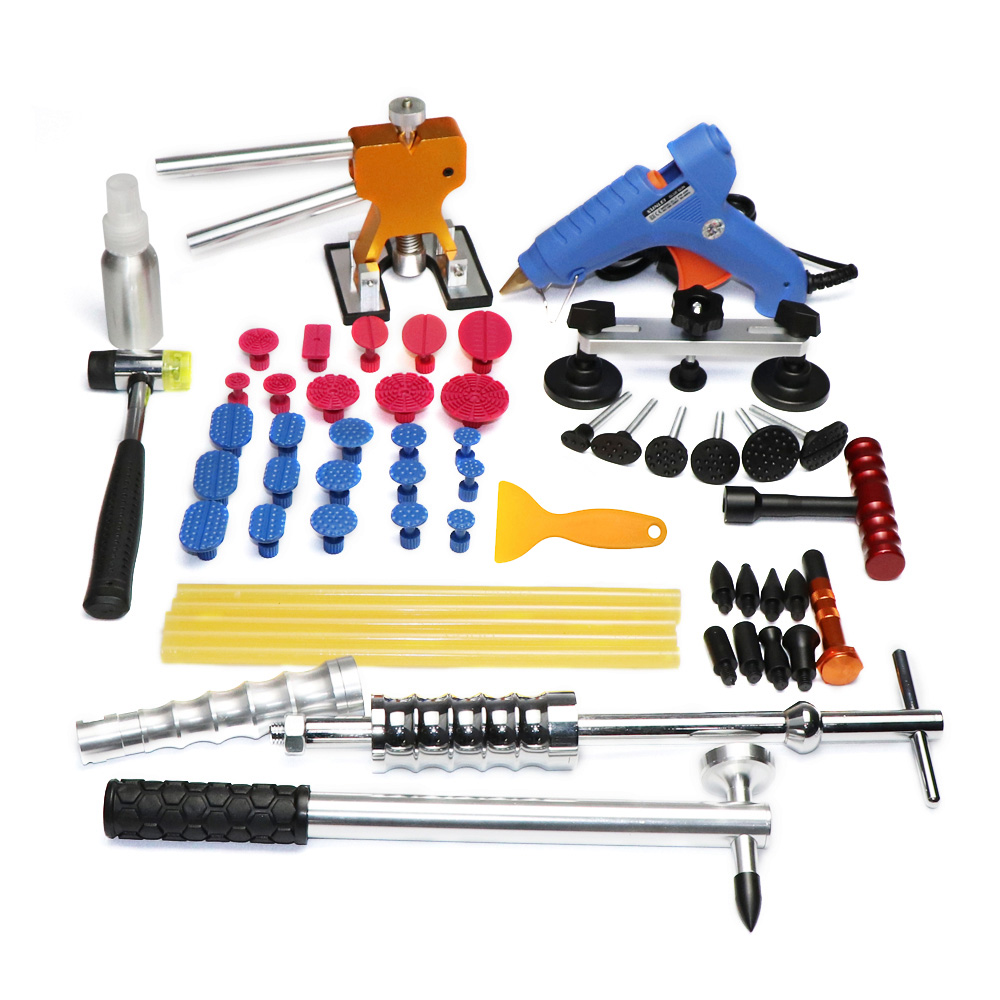 купить PDR tools Car Dent Repair Tool set Slide Hammer Glue Gun Dent Puller 45pcs auto body repair tools Dent removal tool kit по цене 6392.44 рублей