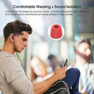 Image 4 - New Bee 6 Pairs Replacement Earphone Tips Noise Isolation Red Memory Foam Headset Pads  Earpiece Earbuds for In Ear Earphone