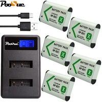 5Pcs NP BX1 NPBX1 NP BX1 Battery+ LCD Dual USB Charger for Sony DSC RX1 RX100 AS100V M3 M2 HX300 HX400 HX50 HX60 GWP88
