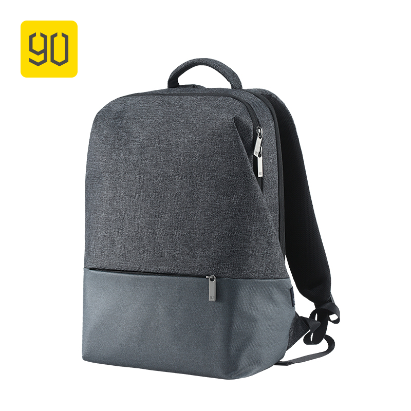 Xiaomi 90FUN City Concise Backpack Anti Theft Zipper 14 inch Laptop Bag College School Business Men Women Casual Daypack Grey xiaomi 90fun urban city simple backpack 14inch laptop waterproof mi rucksack daypack school bag learning portable backpacks