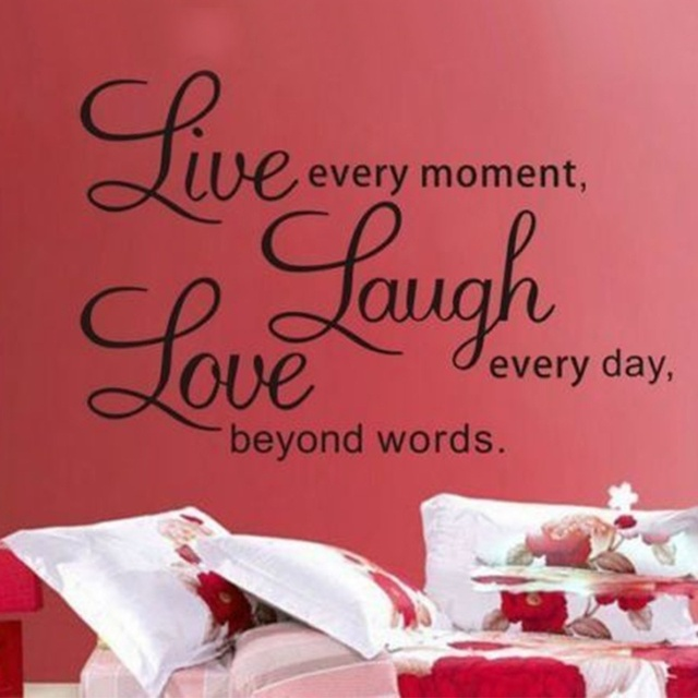 1 Pc Letter Characters Wall Stickers Live Laugh Love Wall Stickers For Home Decor  Art Decal