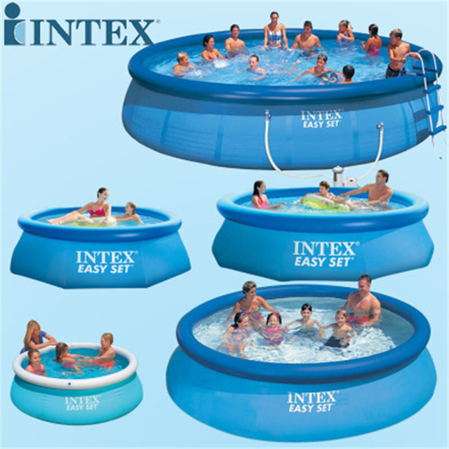 US $125.4 5% OFF|305cm x76cm inflatable swimming pool kids water sports  inflatable pool ground family swim pool multiplayer pool 28120-in Swimming  ...