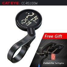 67382598df38 CATEYE bicicleta Ordenador de bicicleta inalámbrico analógico velocímetro  de ciclo impermeable cronómetro integrado frente titul.