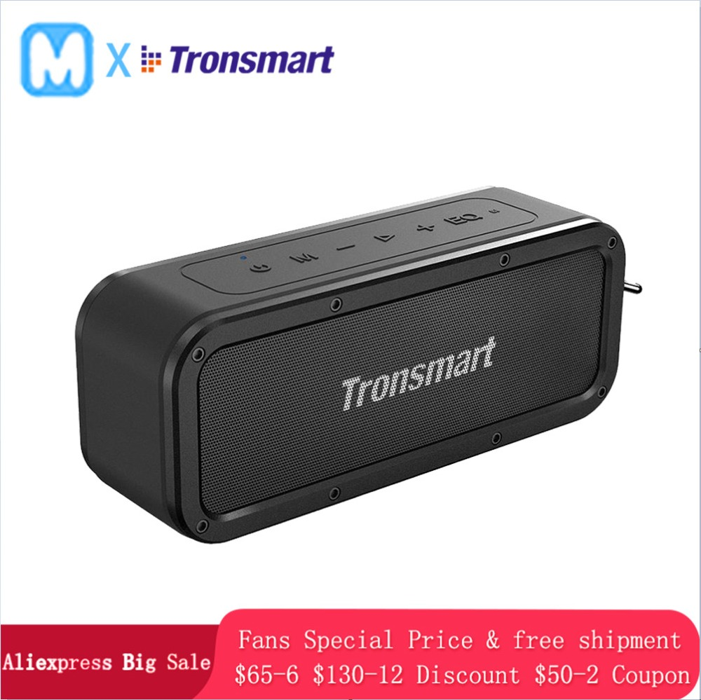 Tronsmart Force Portable Bluetooth speaker Portable Wireless Loudspeaker Sound System 3D stereo Music surround Waterproof OTronsmart Force Portable Bluetooth speaker Portable Wireless Loudspeaker Sound System 3D stereo Music surround Waterproof O