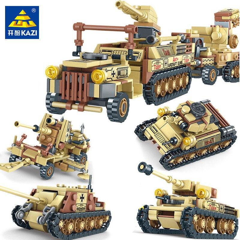 678PCS Military World War 2 Tank Building Blocks Sets Miniature Gun Weapon LegoINGLs Army WW2 Soldiers Bricks Toys for Children