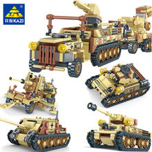 678PCS Military World War 2 Tank Building Blocks Sets Miniature Gun Weapon LegoINGLs Army WW2 Soldiers Bricks Toys for Children(China)