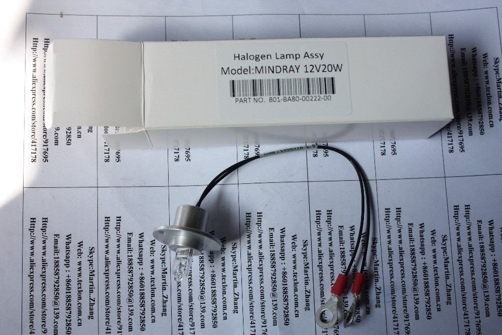 Mindray BS-200 BS-220 BS-400 BS-800 Use 12V 20W Halogen Lamp Assemble With Cable
