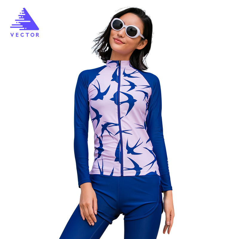 Surfing and Diving Rash Guards for Women Swimming Rowing Sailing Surfing Wetsuit Surf Swimwear Rashguard