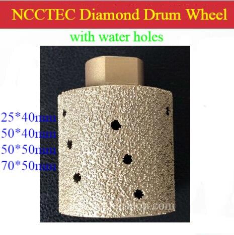 NCCTEC Brazed Coarse Zero tolerance accuracy Diamond polishing Drum Wheel for grinding hard granite | 25*40 50*40 50*50 70*50mm supply 2 xm14 diamond polishing drum wheel resin filled for counter