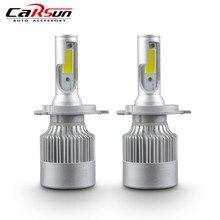 цена на H4 H7 H11 H1 H3 9005 9006 COB LED Headlight 72W 8000LM All In One Car LED Headlights Bulb Head Lamp Fog Light Pure White 6000K