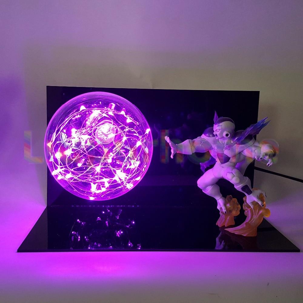 Dragon Ball Z Freeza Power Pink Led Night Lights Bulb Lamp Anime Light Christmas Decorations