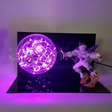 Dragon Ball Z Freeza Power Led Rosa Luzes Da Noite Lâmpada do Bulbo Bola Anime Dragão Z Freeza Diodo Emissor de Luz Decorações de Natal(China)
