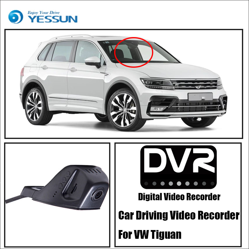 YESSUN For VW Tiguan - For iPhone Android APP Control Black Box Function Car Front Dash Camera CAM / DVR Driving Video Recorder цена