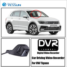 For VW Tiguan / Car Driving Video Recorder DVR Mini Control APP Wifi Camera Black Box / Registrator Dash Cam Original Style bigbigroad for vw multivan car wifi dvr driving video recorder hidden type novatek 96655 car black box keep car original style