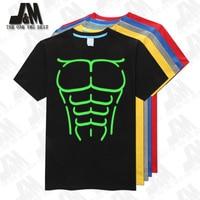 Muscles 3D femmes/hommes t-shirt muscle chaud t-shirt partie brillait t-shirt