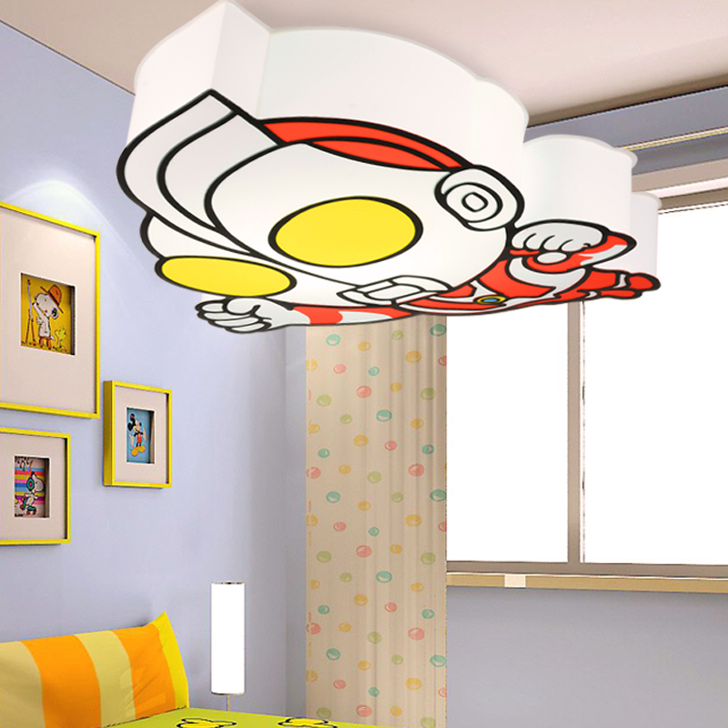 led super man ultraman children ceiling lights fixture cartoon kids ceiling lamps home modern. Black Bedroom Furniture Sets. Home Design Ideas