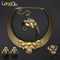 2016 Top Quality Fashion Jewelry Sets African Jewelry Sets African Costume Big Jewelry Set Women Necklace