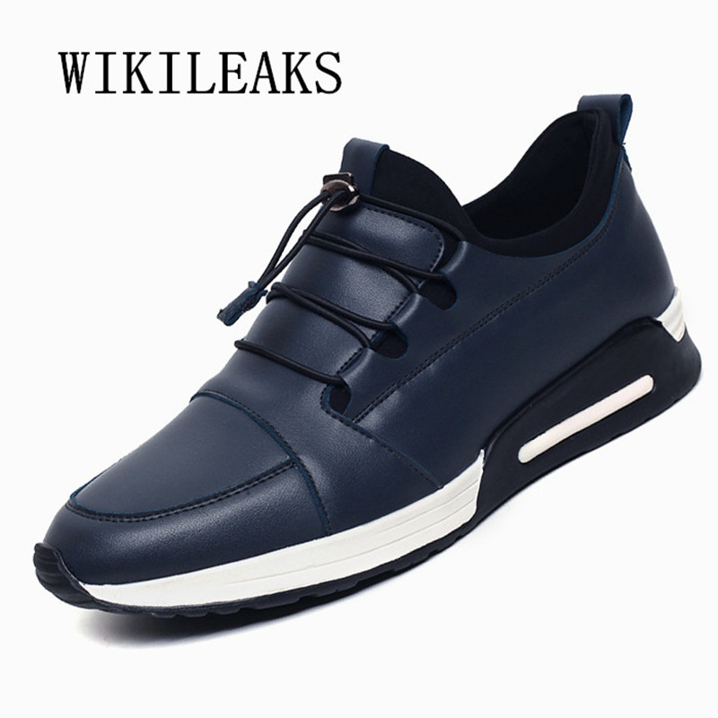 2018 casual shoes men slip on loafers leather shoes italian black zapatos hombre casual sapato masculino tenis masculino adulto okhotcn fashion lace up men shoes sapato masculino zapatos hombre high top casual shoes black rivets embellished flats boots