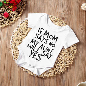 Newborn Baby Clothes Summer Short Sleeve Baby Rompers Letter Printed Romper Jumpsuit Baby Girl Clothing Baby Costumes #BL5