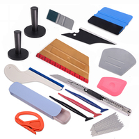 EHDIS Magnetic Vinyl Squeegee Scraper Kit Carbon Film Magnet Holder Car Wrap Cutter Knife Auto Car Styling Sticker Accessories