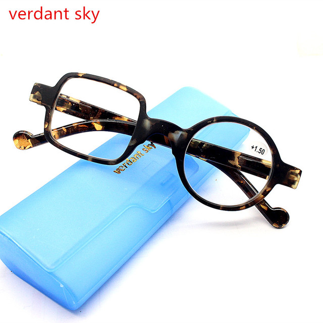 New type Retro Style Optical Glasses High Quality Eyewear Vintage Leopard Glasses Frame Round Reading Glasses oculos 100 to +300