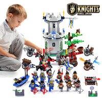 Enlighten טירת בניין חינוכי בלוקים צעצועים לילדים ילדי מתנות hero אביר סוס סירת חץ נשק אקדח