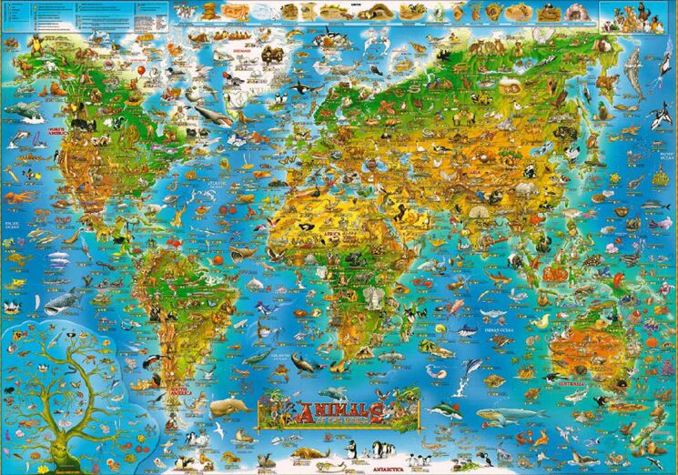 Aliexpress Com Buy Cartoon Map Of The World The Wooden