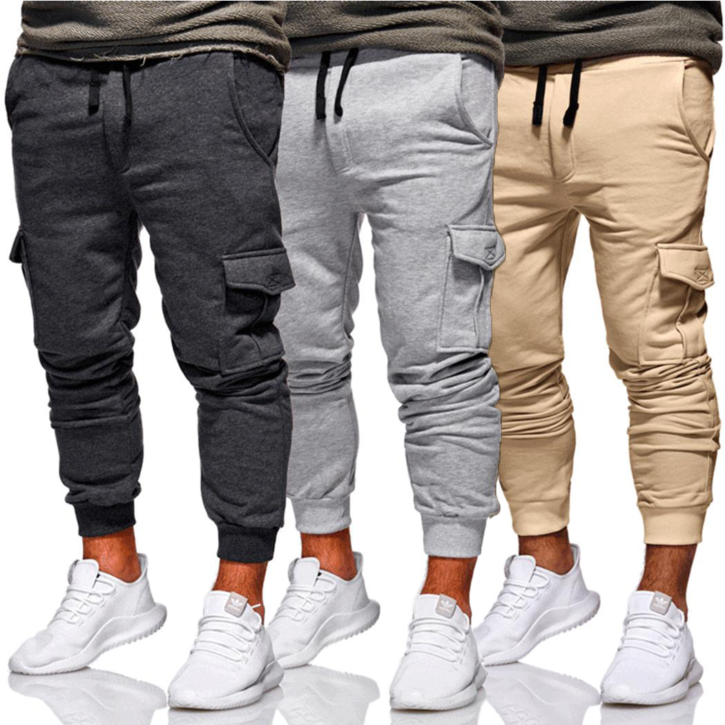 aa9d176b720 New 2019 Men Cargo Pants Fashion Tactical Joggers Fitness Workout Pockets  Sweatpants Plus Size 4XL Casual Hip Hop Male Trousers-in Sweatpants from  Men s ...