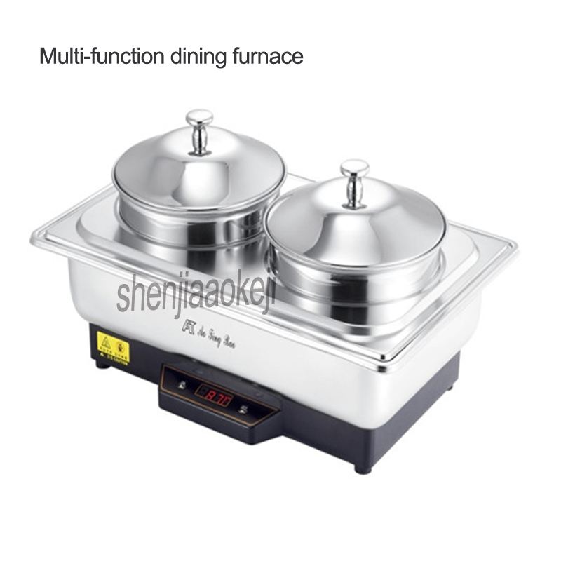 Multi function soup stove Commercial double soup stove Stainless steel buffet furnace Electric heating restaurant furnace 350w