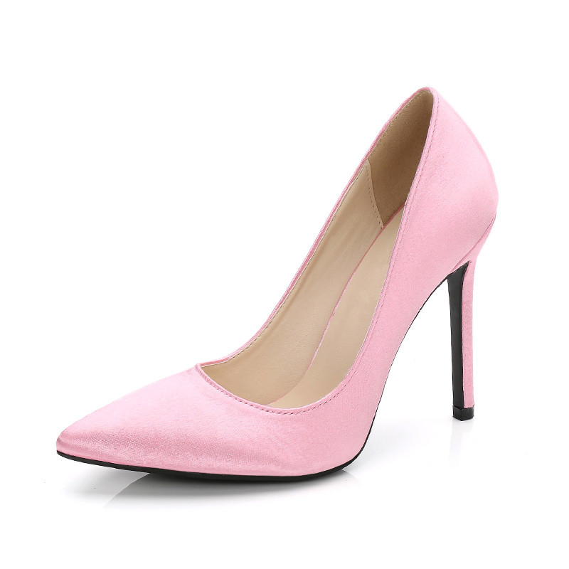 Top Quality Pink Red Women Wedding Shoes 11cm High Heels Whte Black Silk Women  Pumps Pointed a71f324357a0