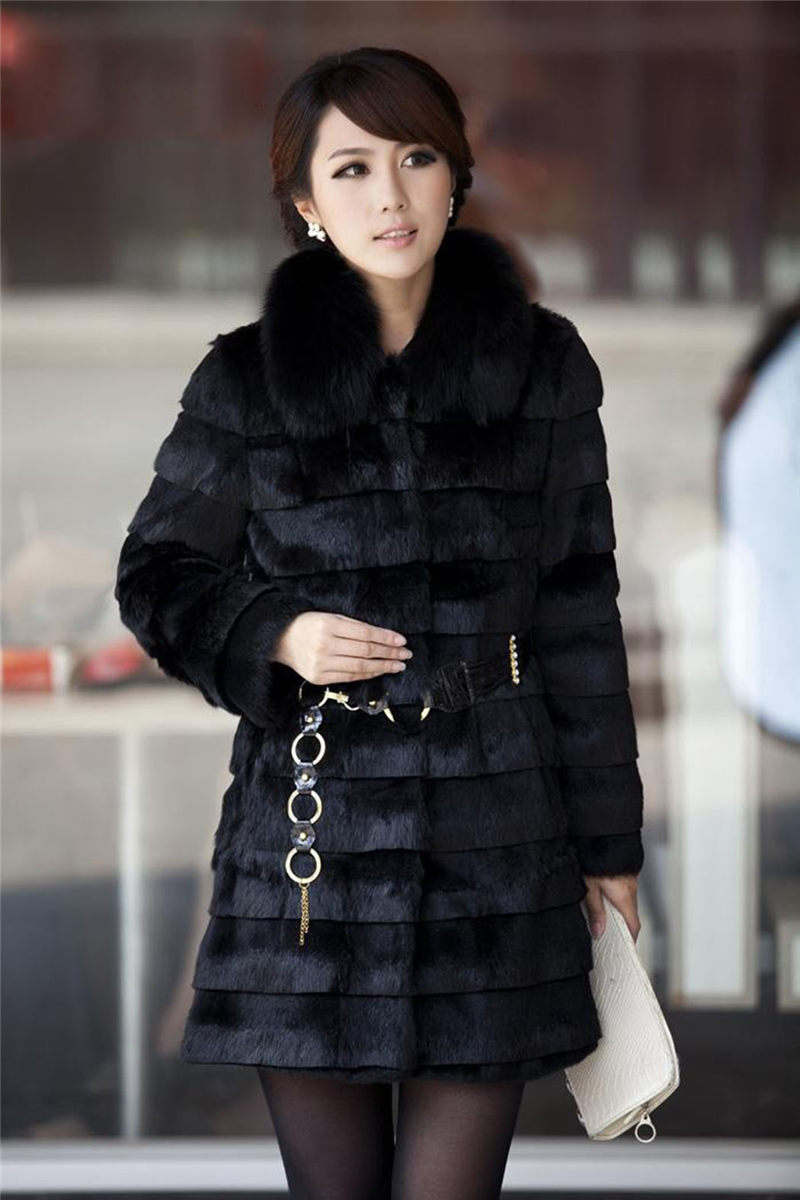 Popular Black Rabbit Fur Coat-Buy Cheap Black Rabbit Fur Coat lots ...