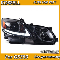 KOWELL Car Styling for for GS350 Headlights 2004 2011 GS300 LED Headlight LED DRL Bi Xenon Lens High Low Beam Parking