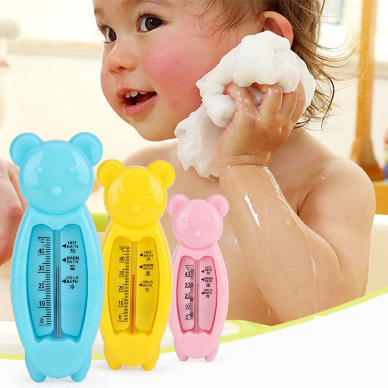2Pcs New Floating Lovely Bear Baby Water Thermometer Float Baby Bath Toy Thermometer Tub Water Sensor Thermometer