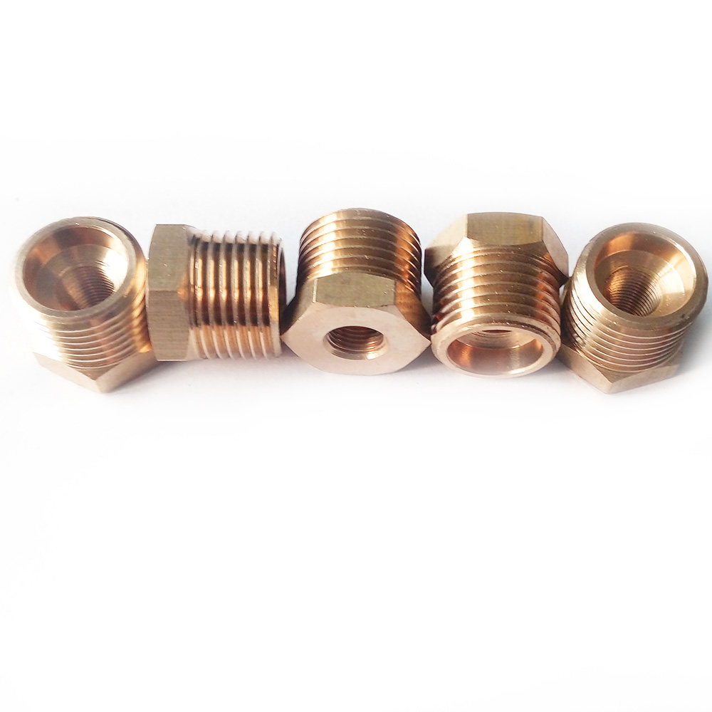 Pack of 5 Brass Pipe Fitting Reducing /Reducer Bushing 1/4 Male BSP*1/8 Female BSP Thread BPFBSP-RB-M1/4-F1/8