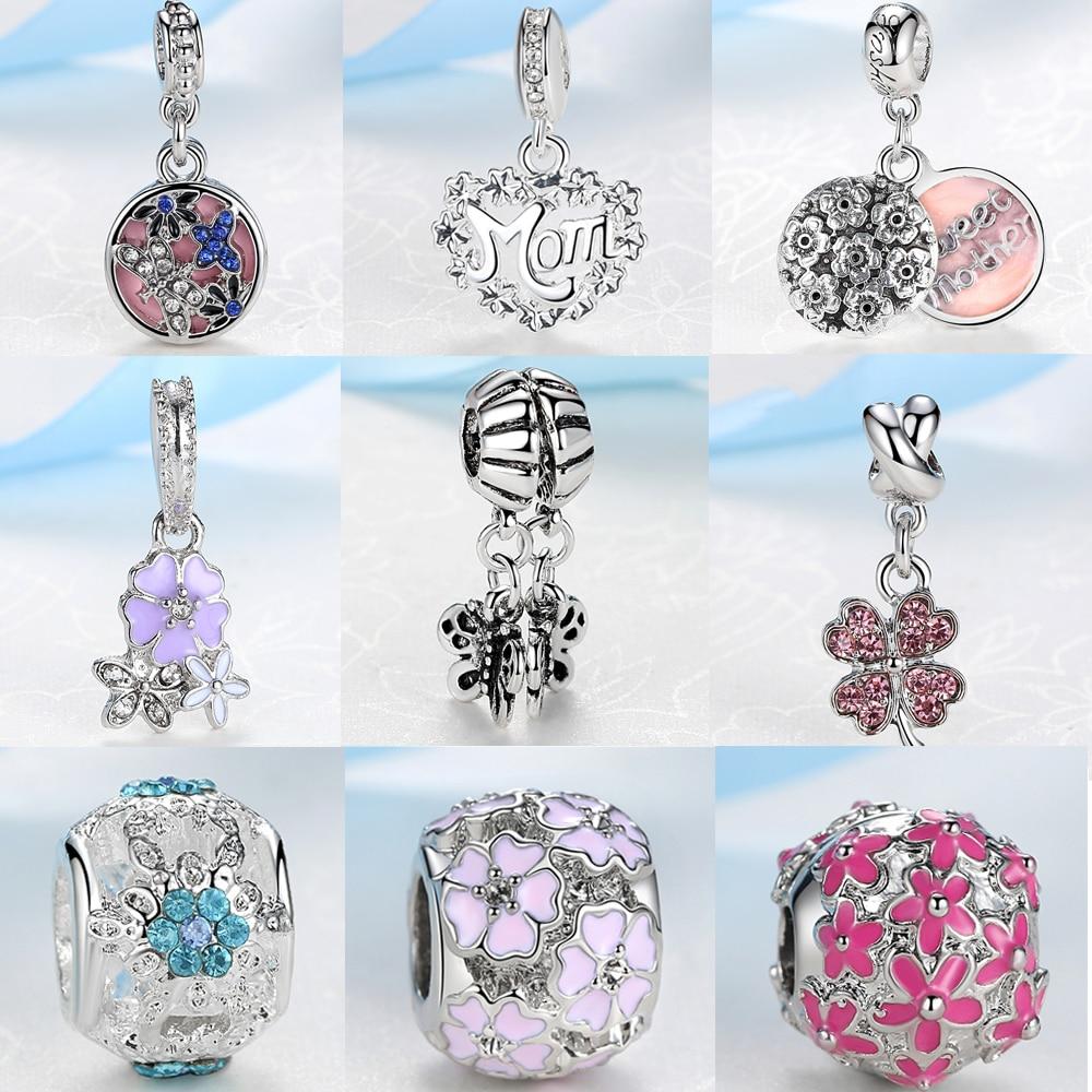 Symbol Of The Brand Jclowsexy Silver Plated Full Crystal Snow Snowflake Pendants Diy Enamel Bead Charms Fit Pandora Women Bracelets & Bangle Jewelry