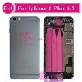 New high quality For iphone 6 Plus 5.5 housing Full assembly Battery Cover with Flex Cable Free Custom IMEI