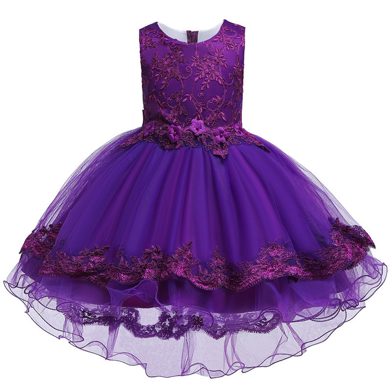 HTB1s2BGe.KF3KVjSZFEq6xExFXaM - Kids Princess Dresses For Girls Clothing Flower Party Girls Dress Elegant Wedding Dress For Girl Clothes 3 4 6 8 10 12 14 Years