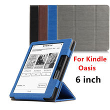Case For Kindle Oasis Protective New 2016 eBook Reader Smart Cover Protector PU leather For Amazon Kindle oasis Sleeve cases 6""