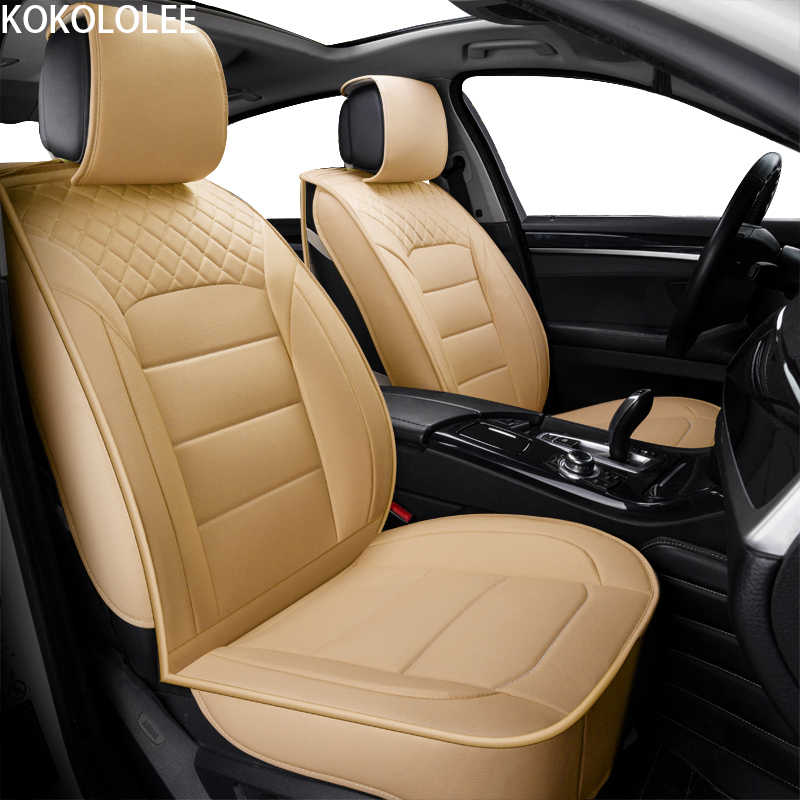 [KOKOLOLEE] pu leather universal car seat Covers for MAZDA 3 CX5 Mazda 6 CX7 323 626 M2 cars cushion styling auto accessories super cool car sticker for mazda 3 mazda 6 mazda 323 whole body free shipping