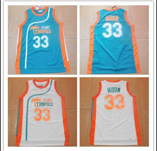 Flint Tropics movie version 33 Jackie MOON Mario moons Basketball Jersey  embroidery-in Basketball Jerseys from Sports   Entertainment on Aliexpress. com ... 6cdbb25c4